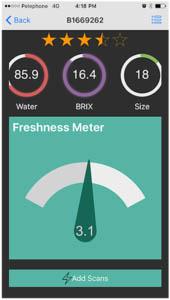 """App """"AclaroMeter"""" prüft Zustand von Obst und Gemüse (Foto © aclartech.com)"""