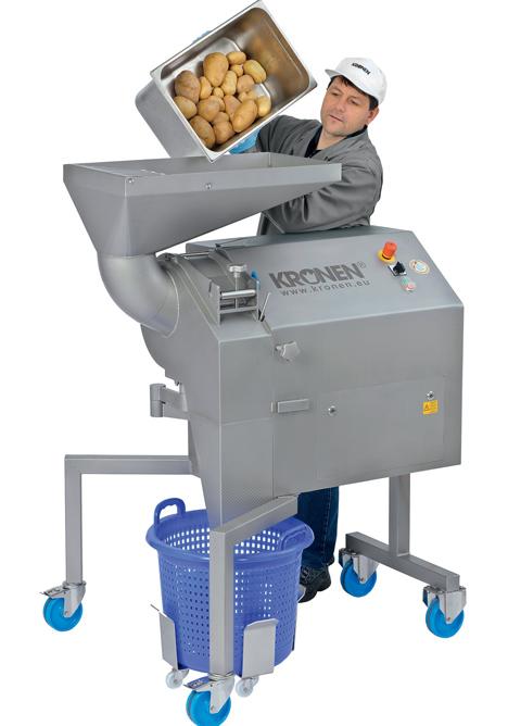 KRONEN KUJ V Würfel-, Stift- und Scheibenschneidemaschine. Foto KRONEN GmbH