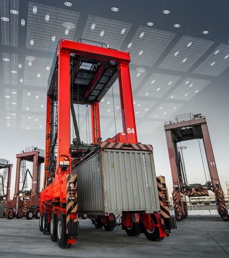 Foto Auto Straddle Carrier Systems. Foto © Firma Kalmar