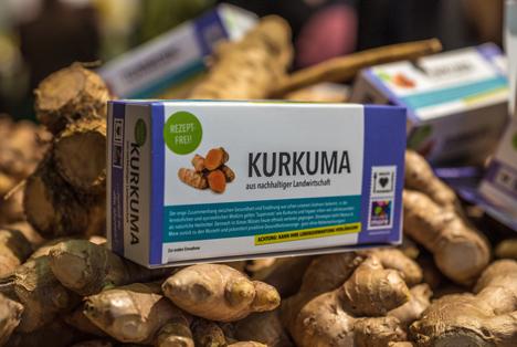 """Bild Kurkuma: Die """"Superroot"""" Bio-Kurkuma ist schon seit Jahrhunderten als natürliches Heilmittel bekannt. Quelle: Nature & More."""