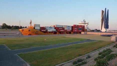 Die OPDR Tanger im Hafen von Sevilla. Foto OPDR