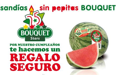 Anecoop Sommerkampagne für kernlose Wassermelone Bouquet Foto Anecoop