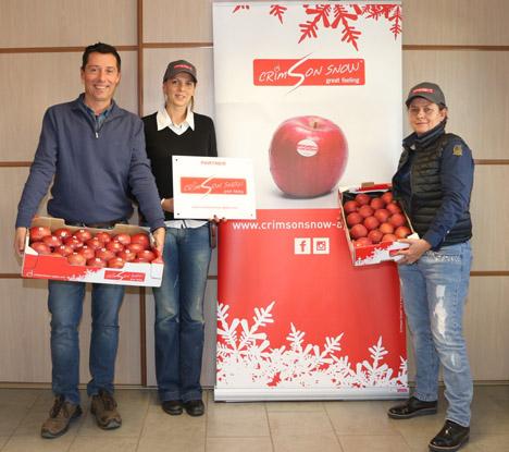 Francois Mestre, Andrea Himbert und Anne Dupuis von Mesfruits. Foto © Crimson Snow