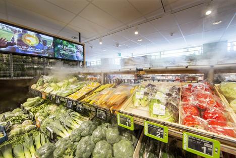 Einsatz von Trockennebel bleiben Obst und Gemüse Foto © Albert Heijn