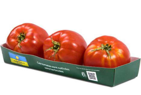 Foto © Carrefour Quality Line, in deren Mittelpunkt Tomaten stehen