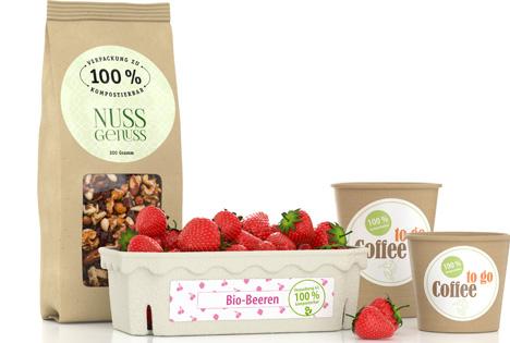Nachhaltige Etiketten für biologisch abbaubare Verpackungen. Foto Etiket Schiller GmbH