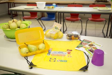 """Dritte Runde für die Lidl-Fruchtschule. Quelle: """"obs/LIDL/Lidl"""""""