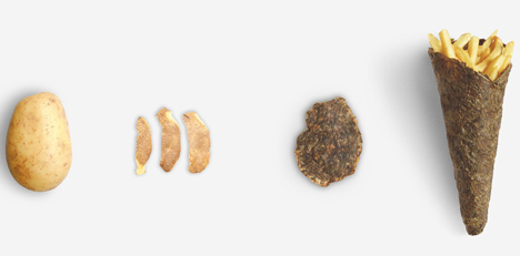 "Peel Saver ""potato in potato packaging"". Foto © Yanko Design"