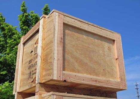 Nachhaltige Holzpaletten in Aktion. Foto © HPE