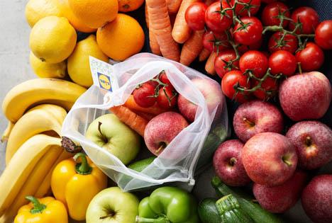 Lidl Obst- und Gemüsenetz. Foto © Lidl Österreich