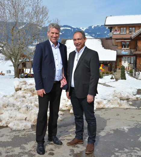 l. n .r. Daniel Suter, Präsident, VSP, Cyrill Busslinger, neues Vorstandsmitglied VSP. Foto © VSP