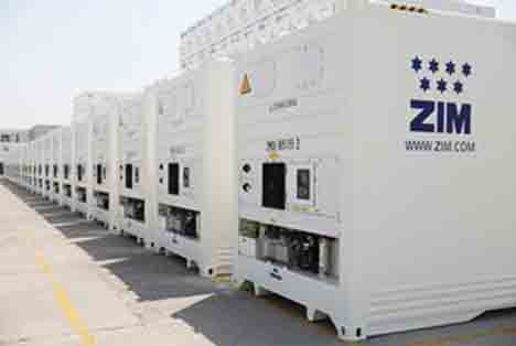 """Foto © ZIM advanced """"Star Cool"""" containers by MCI"""
