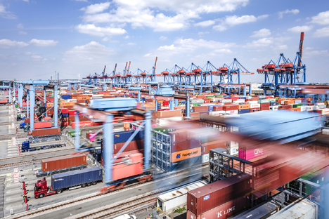 HHLA Container Terminal Altenwerder (CTA). Foto: HHLA / Thies Rätzke