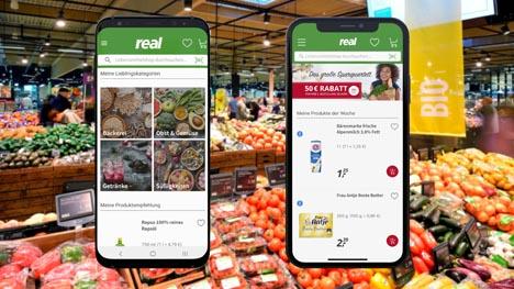 App jetzt! Mit dem Smartphone in den Supermarkt. Foto © Real