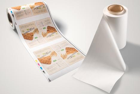 Heim-kompostierbares Papierlaminat für flexible Verpackungen. Foto © BASF 2020