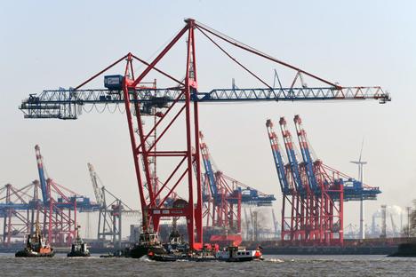 Neue Containerbrücken am EUROGATE Terminal Hamburg Foto © Eurogate