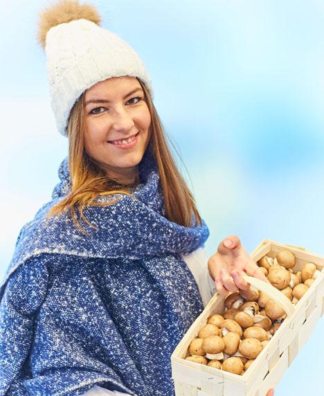 Ein gutes Mittel gegen den Winterblues: Vitamin-D-reiche Pilze. Foto © GMH/BDC