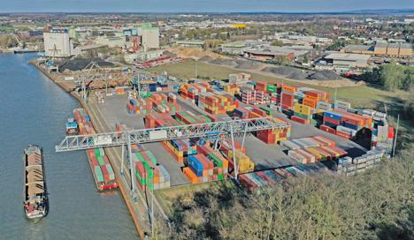 HHLA und Hafen Braunschweig (im Bild) schließen strategische Partnerschaft. Foto © HHLA / Hafen Braunschweig