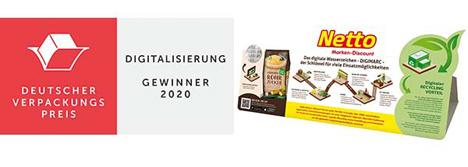 Deutscher Verpackungspreis 2020. Foto © Netto