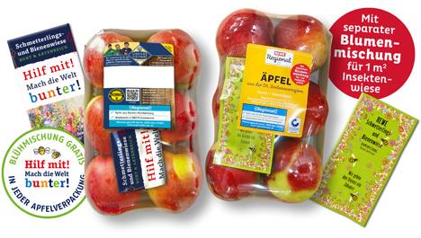 Foodtainer von Obst vom Bodensee mit Blühmischung. Foto © Obst vom Bodensee Vertriebsgesellschaft mbH