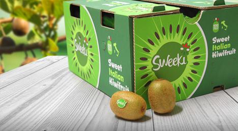 Sweeki Kiwi Verpackung. Foto © Origine Group