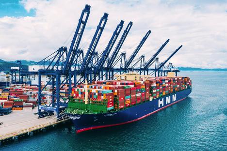 HMM Algeciras Foto © Hafenbetrieb Rotterdam / Hyundai Merchant Marine