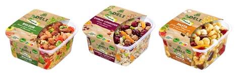 Am Kühlregal sind ab Juni drei verschiedene Feinkostsalate mit leckerem Getreide, Gemüse und Hülsenfrüchten erhältlich. Foto © Bonduelle