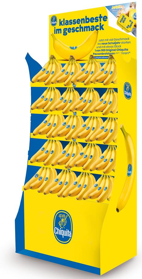 Chiquita Display Schulpromotion. Foto © Chiquita