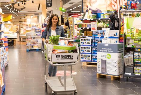 """Der """"EASY Shopper"""", der modernste Einkaufswagen der Welt. Foto © EDEKA"""