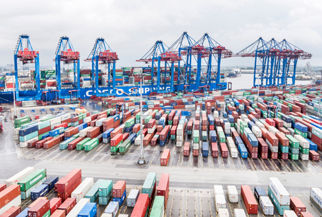 HHLA Container Terminal Tollerort. Foto © HHLA / Thies Rätzke