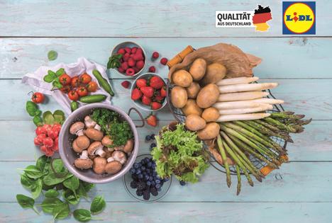 Deutsche Ernte 2021: Lidl bietet noch mehr regionales Obst und Gemüse an. Foto © Lidl