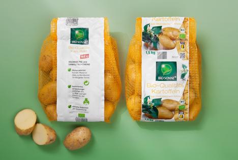 Neue Bio-Kartoffel-Netze von Norma sparen jährlich rund 630 Tonnen Plastik ein