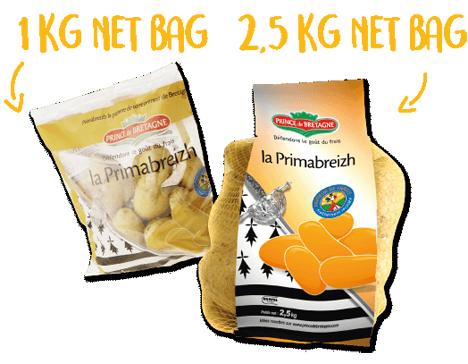 Freshness sachets (750g and 1kg) and 2.5kg net bags. Foto ©  Prince de Bretagne