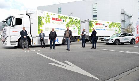 Der Hyundai XCIENT Fuel Cell für SPAR Handels AG. Foto © SPAR Schweiz