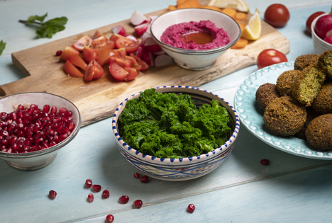 Grünkohl-Falafel Foto © BVEO/Ariane Bille